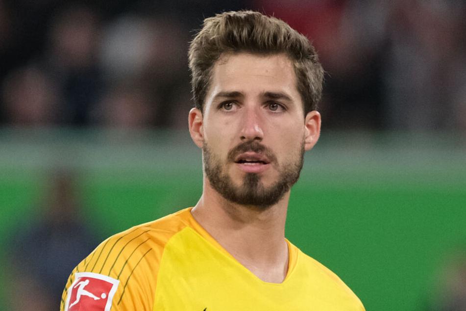 Der Fußballer am 22.04.2019 in Wolfsburg beim Spiel VfL Wolfsburg gegen Eintracht Frankfurt in der Volkswagen-Arena.