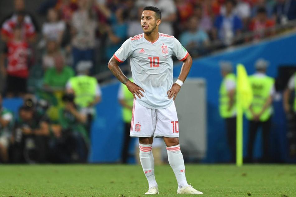 Thiago kämpft mit der spanischen Nationalmannschaft bei der WM um den Titel.