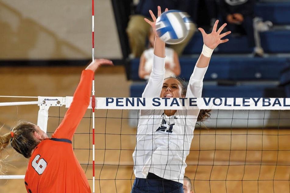 Bryanna Weiskircher (r.) spielte zuletzt am College für die Penn State University.