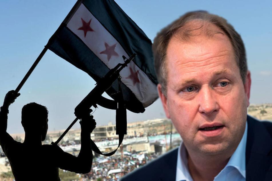 Folter, polizeiliche Willkür: Die Situation in Syrien ist laut Joachim Stamp so, dass man keine Menschen zurückführen kann.