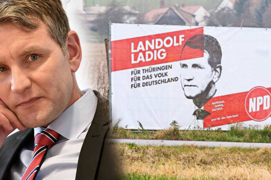 Plakate aufgetaucht! Ist Björn Höcke jetzt bei der NPD?