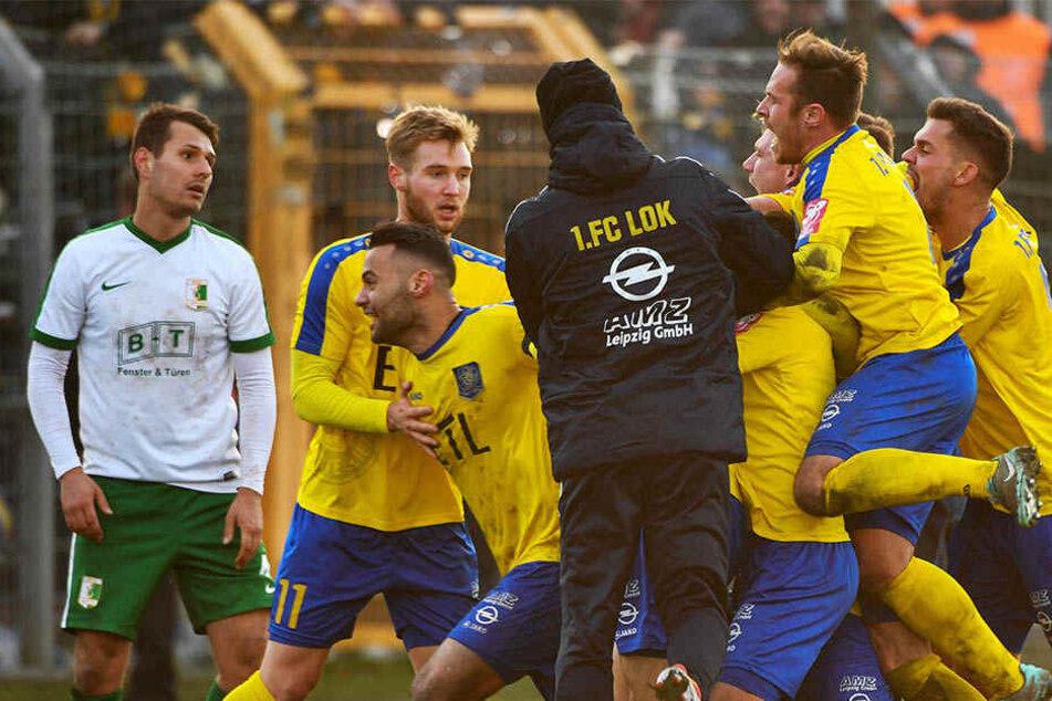 Im Viertelfinale gewann Lok das Ortsderby bei der BSG Chemie mit 1:0 nach Verlängerung. Nun wartet Bischofswerda im Halbfinale.