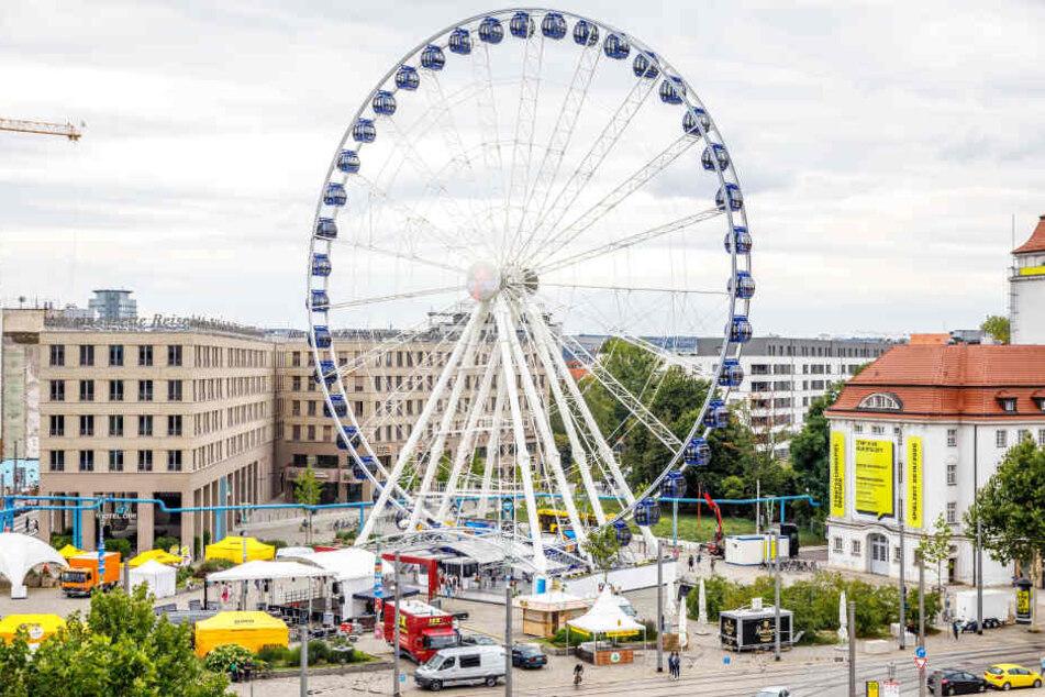 Das Riesenrad auf dem Postplatz rund um das Stadtfest ist in Gefahr.