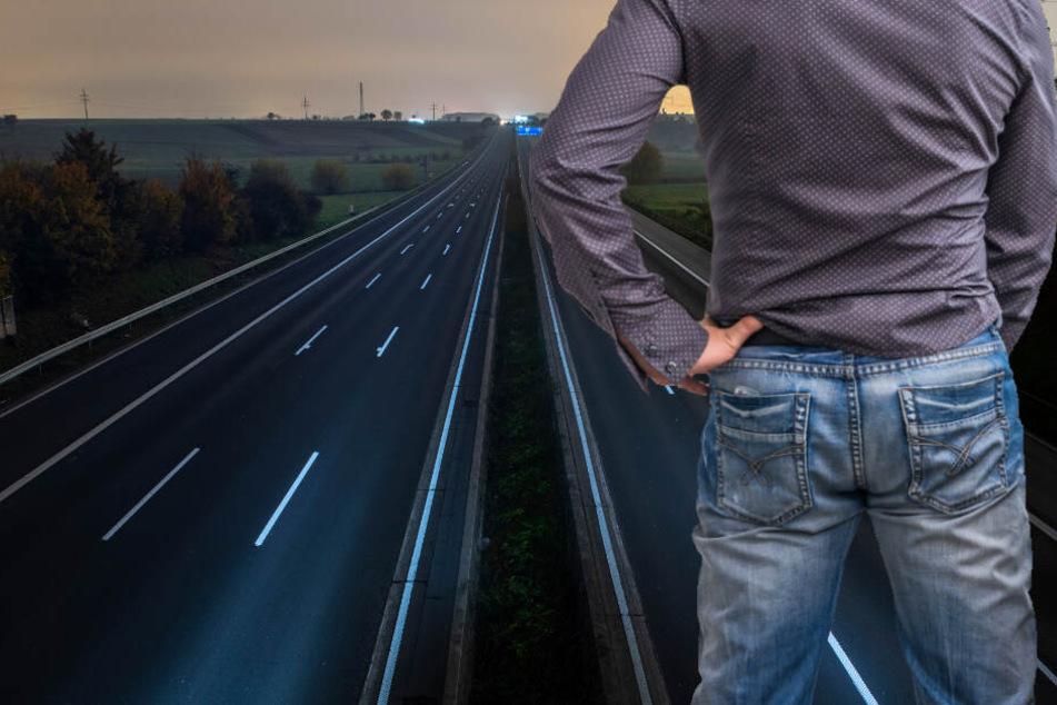 Pinkelpause auf Autobahn kommt betrunkenem Fahrer teuer zu stehen