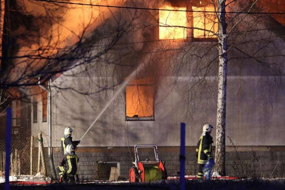 70 Feuerwehrleute waren bei dem Brand im Einsatz.