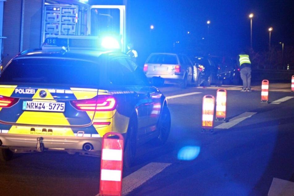 Unfälle mit acht Verletzten auf A44 am Flughafen Düsseldorf