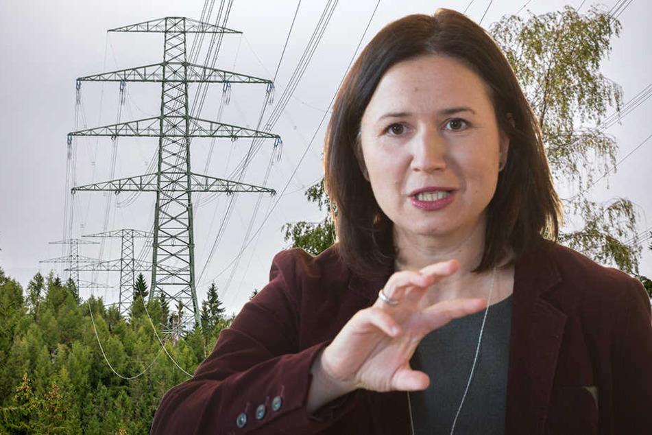 Umweltministerin Anja Siegesmund kritisiert den Plan für eine neue Stromtrasse.