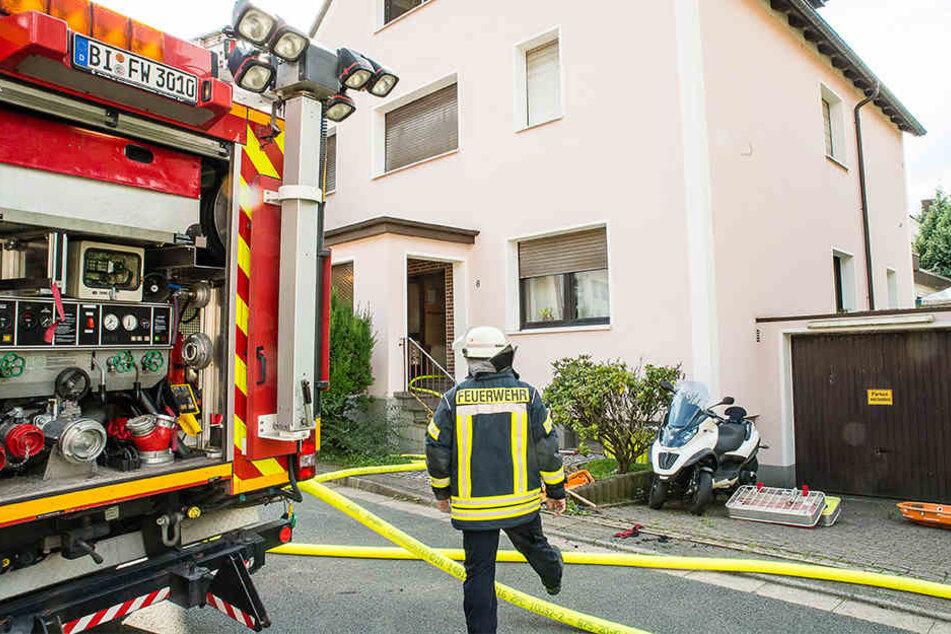 Die Feuerwehr hatte den Brand zeitig wieder im Griff.
