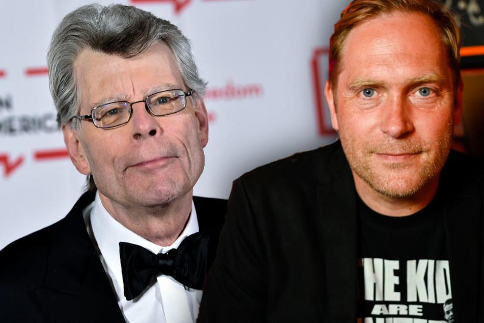 Thees Uhlmann (r.) hat auf seinem aktuellen Album eine Hommage an Stephen King (l.) verfasst. (Bildmontage)