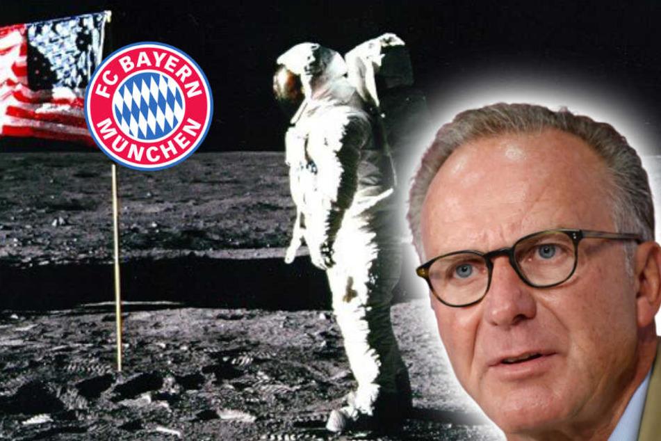 FC Bayern diesmal in erster Reihe: Rummenigge erinnert sich an Mondlandung