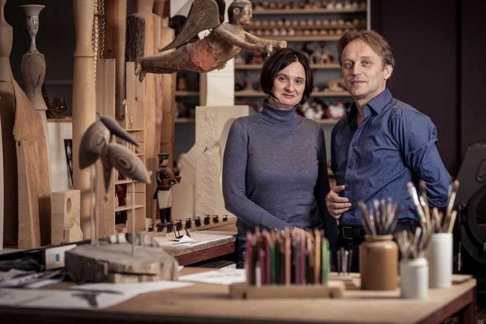 Karsten Braune und seine Frau Claudia Thieme arbeiten als freiberufliche Diplomdesigner in einer Ateliergemeinschaft in Pulsnitz.