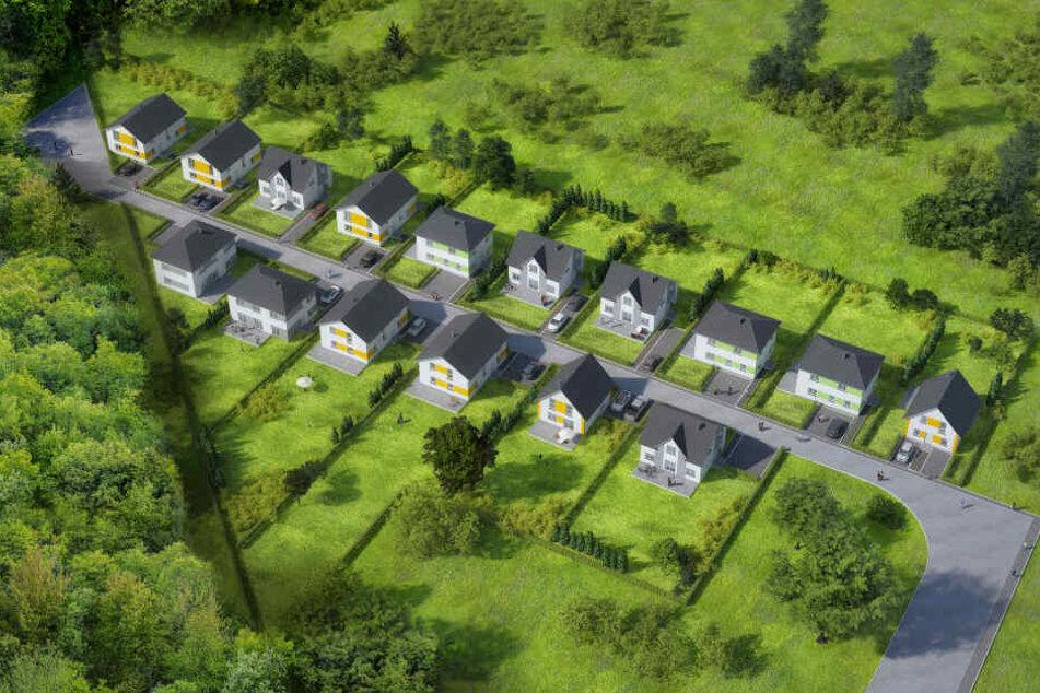 Hier entstehen 16 Einfamilienhäuser und Stadtvillen von TAFF-Haus.