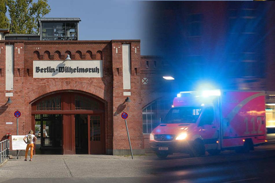 Am S-Bahnhof Berlin-Wilhelmsruh wurden die beiden Männer von einer S-Bahn erfasst.