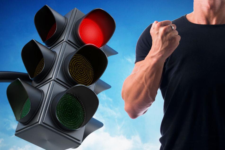 An roter Ampel: Autofahrer steigt aus, verprügelt 49-Jährigen und fährt weiter