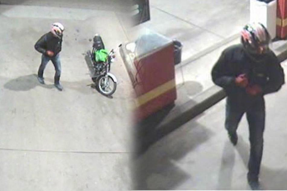 Pistolen-Mann auf Moped gesucht! Wer ist der Tankstellen-Räuber?