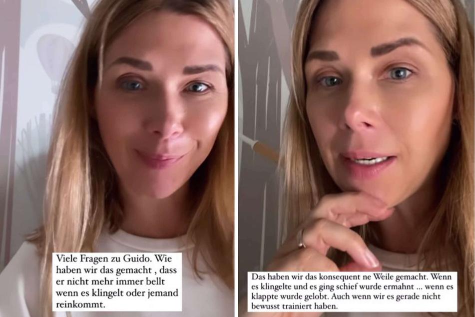 Tanja Szewczenko (44) verriet ihren Instagram-Fans kürzlich, mit welcher Methode sie ihrem Familienhund das Bellen an der Tür abgewöhnen konnte.