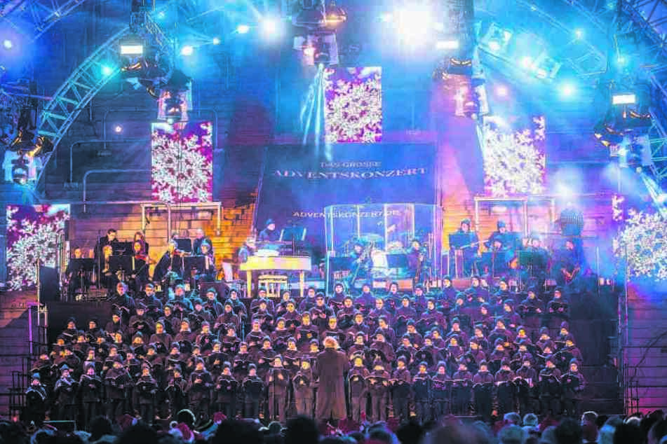 Rund 25.000 Besucher freuen sich jährlich über das Adventskonzert im Dynamo-Stadion.