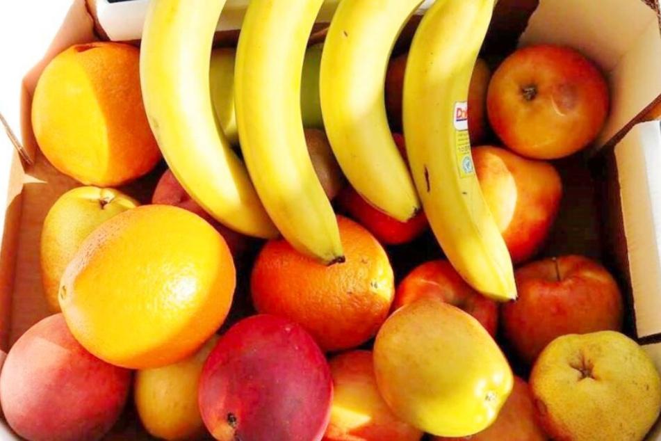 Auch Bananen und Äpfel können über die App weiterverkauft werden.