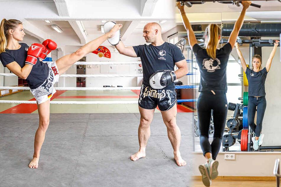 Kickbox-Meisterin: Schöne Sächsin kann ordentlich austeilen