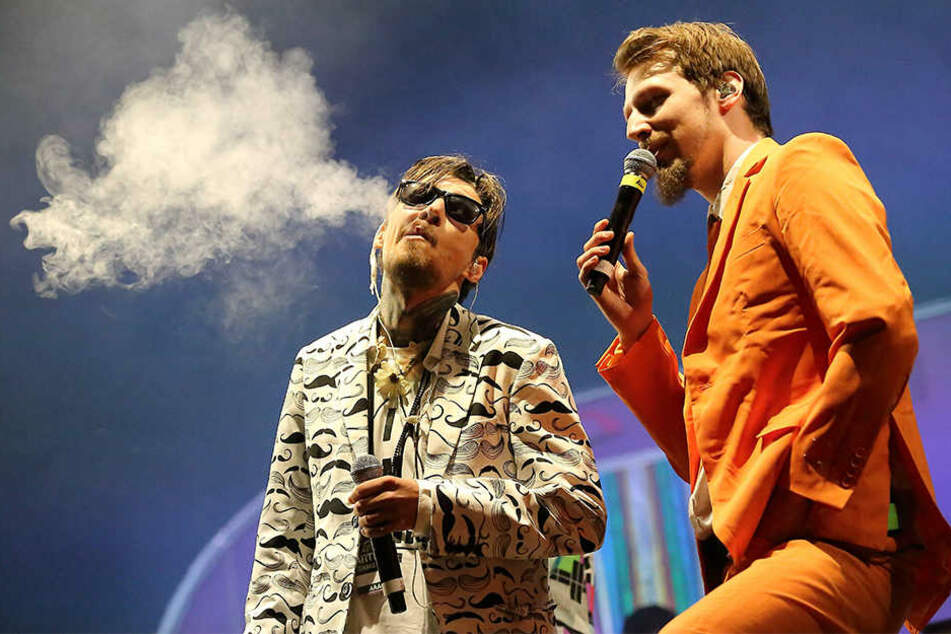 Timi Hendrix und Alligatoah (re.) gehören zu der vierköpfigen Trailerpark-Band.
