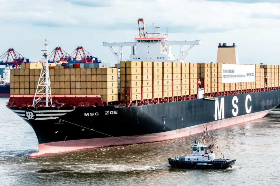 Die MSC Zoe ist eines der größten Containerschiffe der Welt. (Symbolfoto)