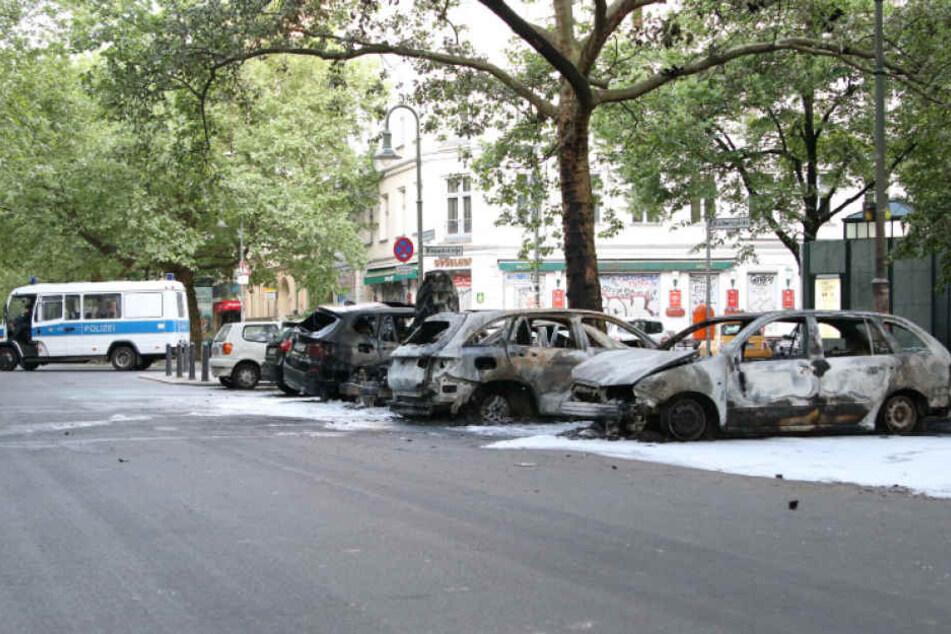 Ein Bild der Verwüstung rund um den Kollwitzplatz.