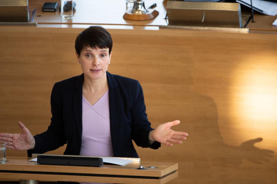 Steht ab heute wegen Meineids vor Gericht: Frauke Petry (Blaue Partei).