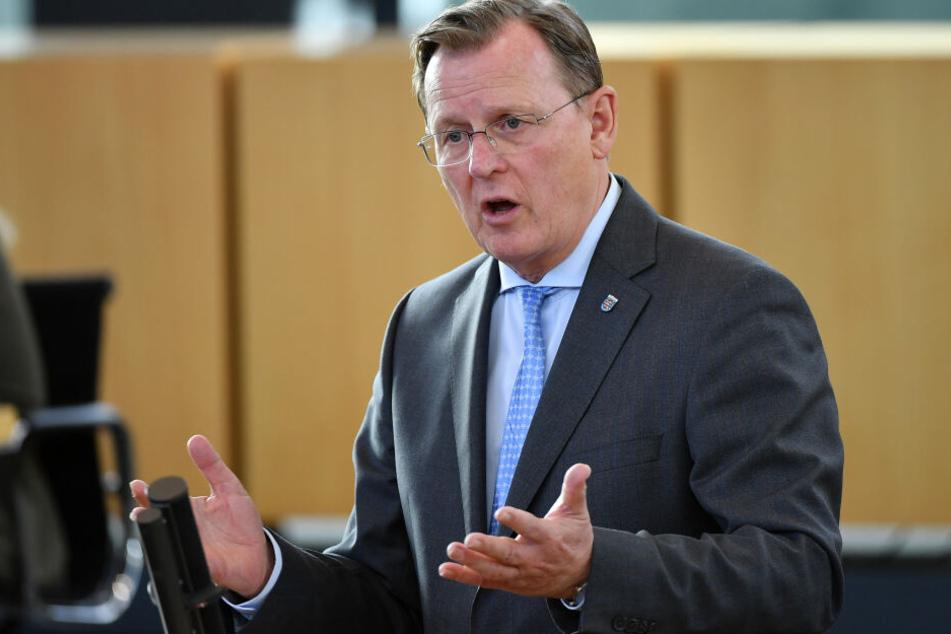 Bodo Ramelow bei einer Sitzung des Landtags in Erfurt.