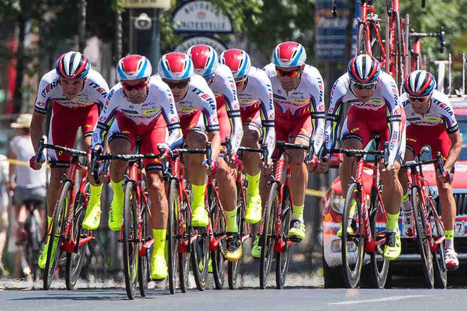 Die Fahrer des Radsportteams Katusha waren wegen ihrer Doping-Vergangenheit sehr umstritten.