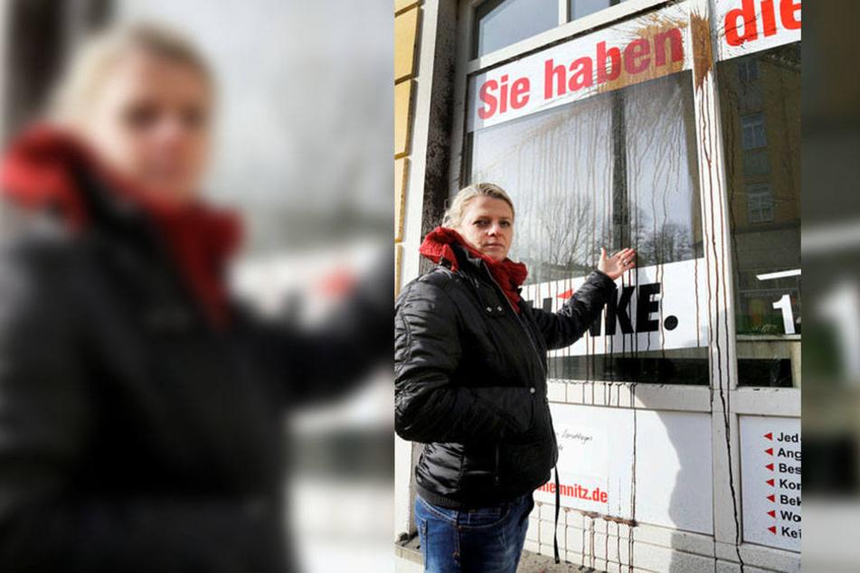 Linken-Politikerin Susanne Schaper (40) musste nach mehreren Anschlägen ihr Büro auf dem Sonnenberg räumen.