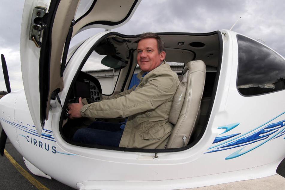 Mit seiner Maschine hat Brüggehofe auch schon eine Familie für einen Tagestrip nach Wangerooge geflogen.