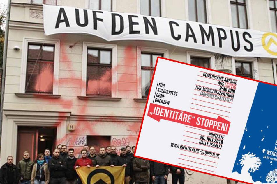 Leipziger mobilisieren gegen Marsch der rechten Identitären Bewegung