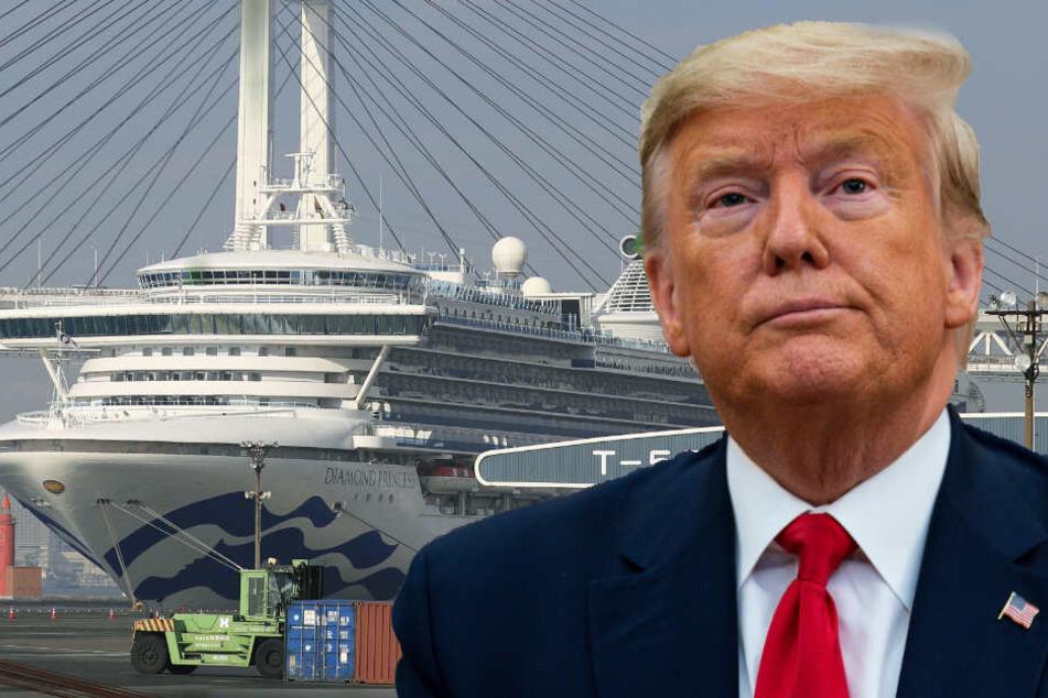 Nach Evakuierung von Corona-Kreuzfahrtschiff: Präsident Trump ist außer sich