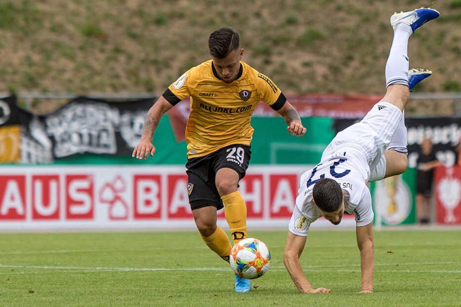 Sascha Horvath (l.) würde gerne mal gegen Dortmund spielen.