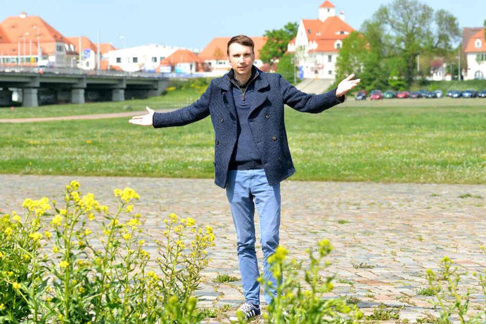 Stadtbezirksbeirat Marko Beger (37, FDP) kämpft für eine schnelle Lösung.