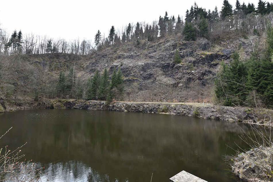 In diesem Steinbruch am Geisingberg entdeckten Spaziergänger eine Leiche.