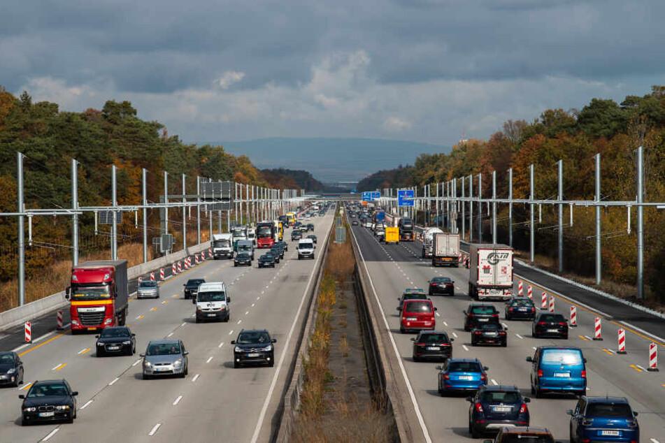 Die Teststrecke befindet sich auf der A5 zwischen Frankfurt Flughafen und Darmstadt.