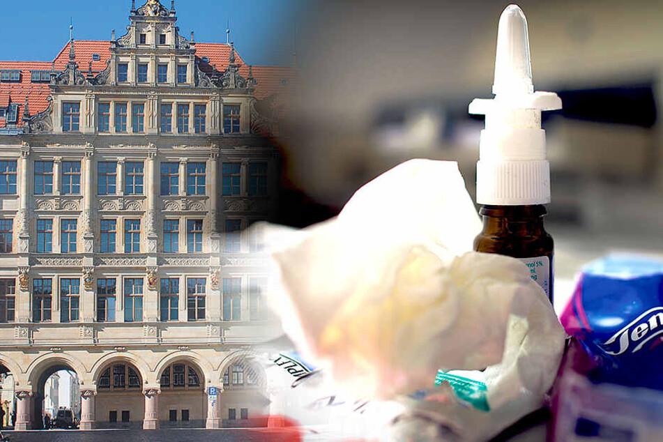 Die Grippewelle hat jetzt auch die Mitarbeiter der Görlitzer Stadtverwaltung kalt erwischt.
