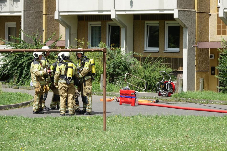 Die Dresdner Feuerwehr ist derzeit im Stadtteil Johannstadt im Einsatz.