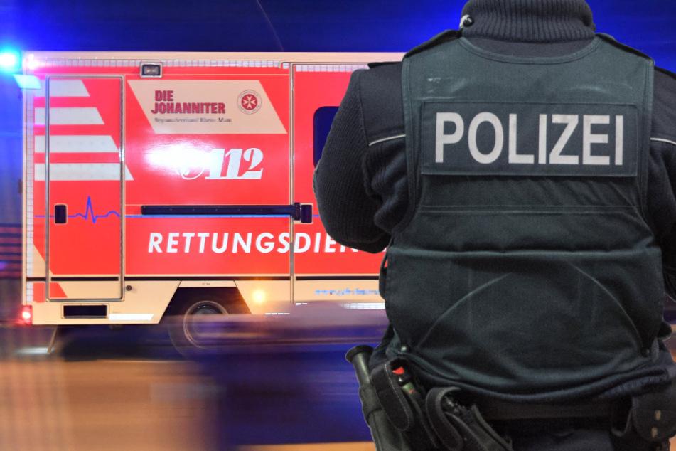 Der Rettungsdienst musste drei Personen ins Krankenhaus bringen. Die Polizei ermittelt wegen wechselseitiger gefährlicher Körperverletzung. (Symbolbild)