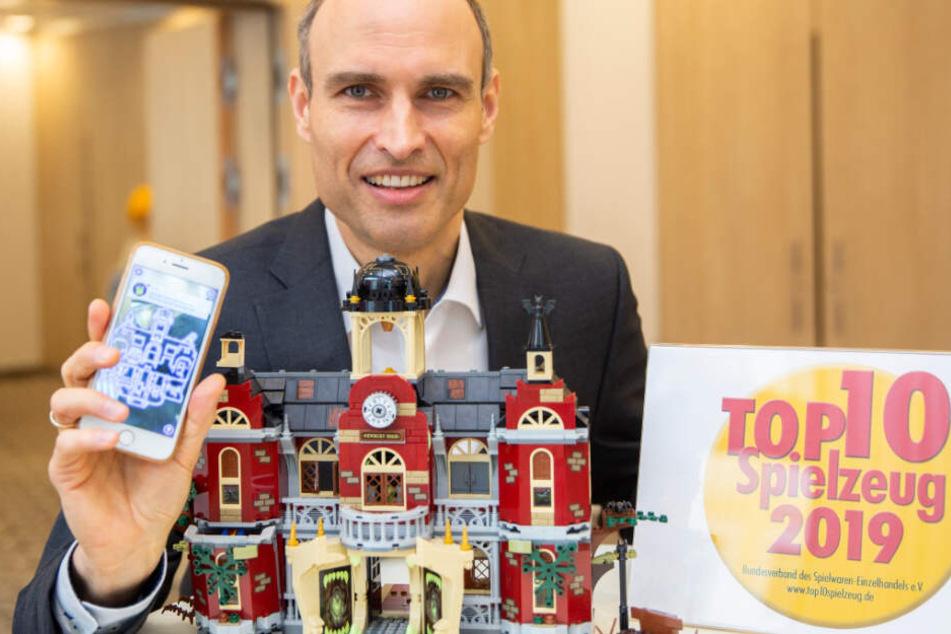Steffen Kahnt, Geschäftsführer des Bundesverbands des Spielwaren-Einzelhandels (BVS), bei der Jahrespressekonferenz.