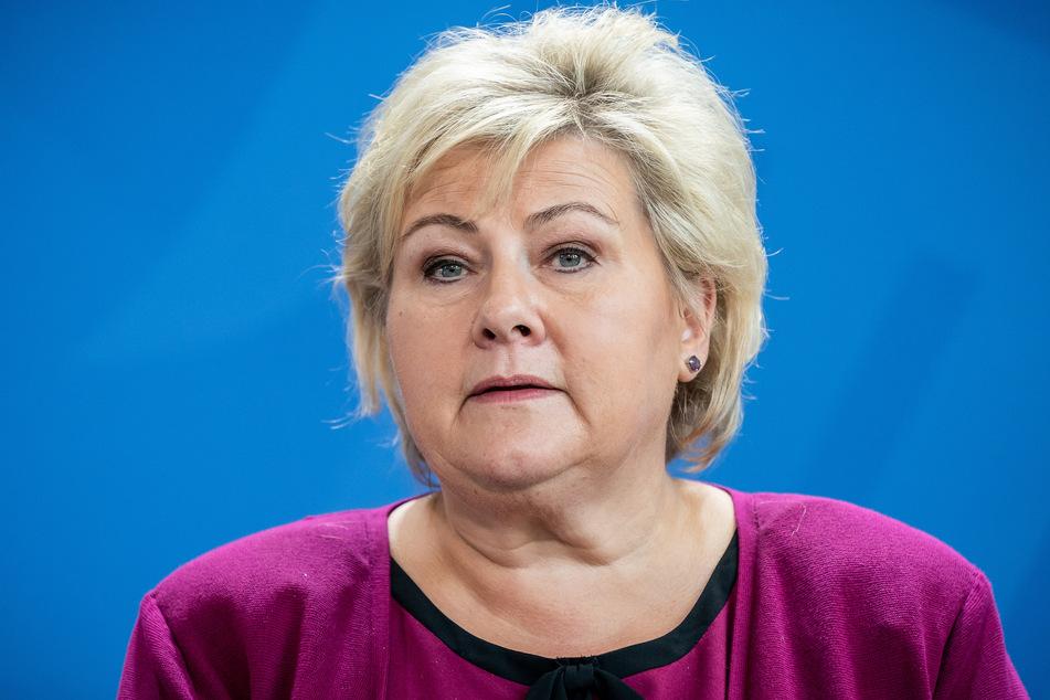 Norwegens Premierministerin Erna Solberg (60) kündigte am Dienstag Lockerungen im Land an. (Archivbild)