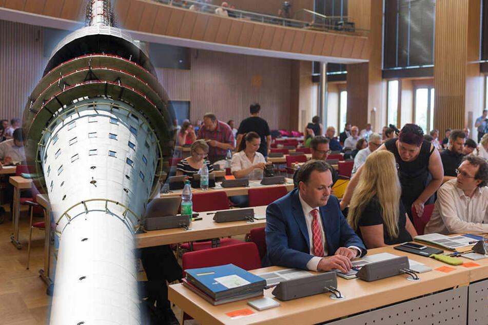 Emotionale Debatte im Stadtrat: Wie weiter mit dem Fernsehturm?