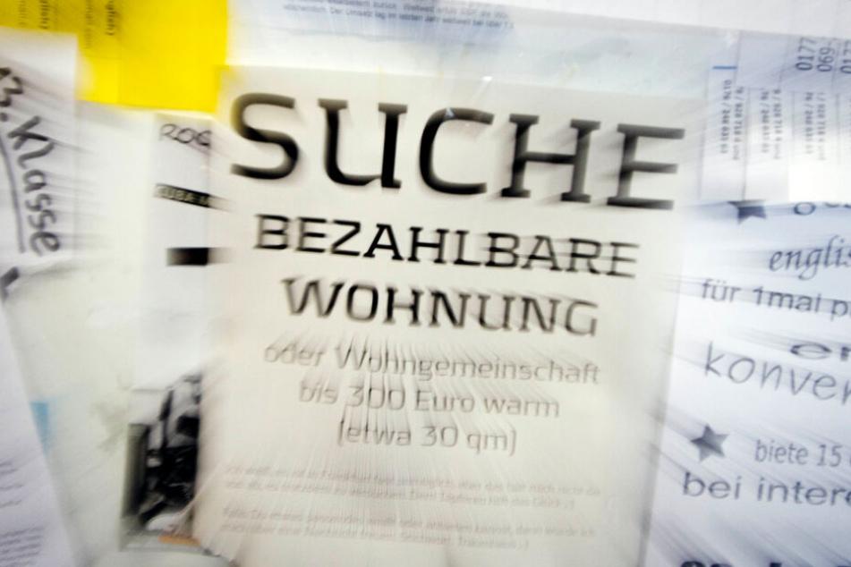 Die Wohnungsnot in Frankfurt ist für viele Menschen ein großes Problem (Symbolbild).