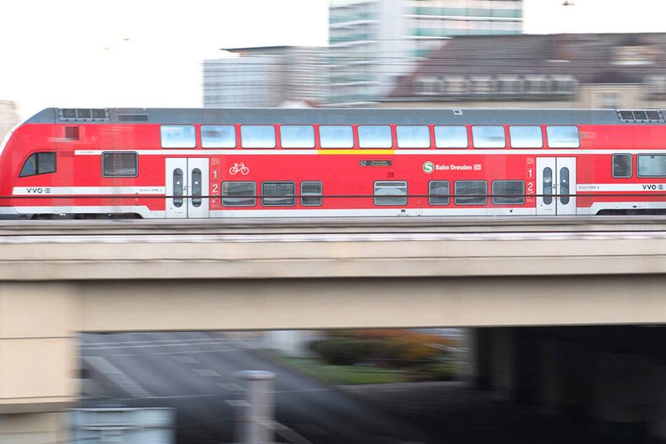 In einer Dresdner S-Bahn bekam ein 35 Jahre alter Mann Schläge ab.