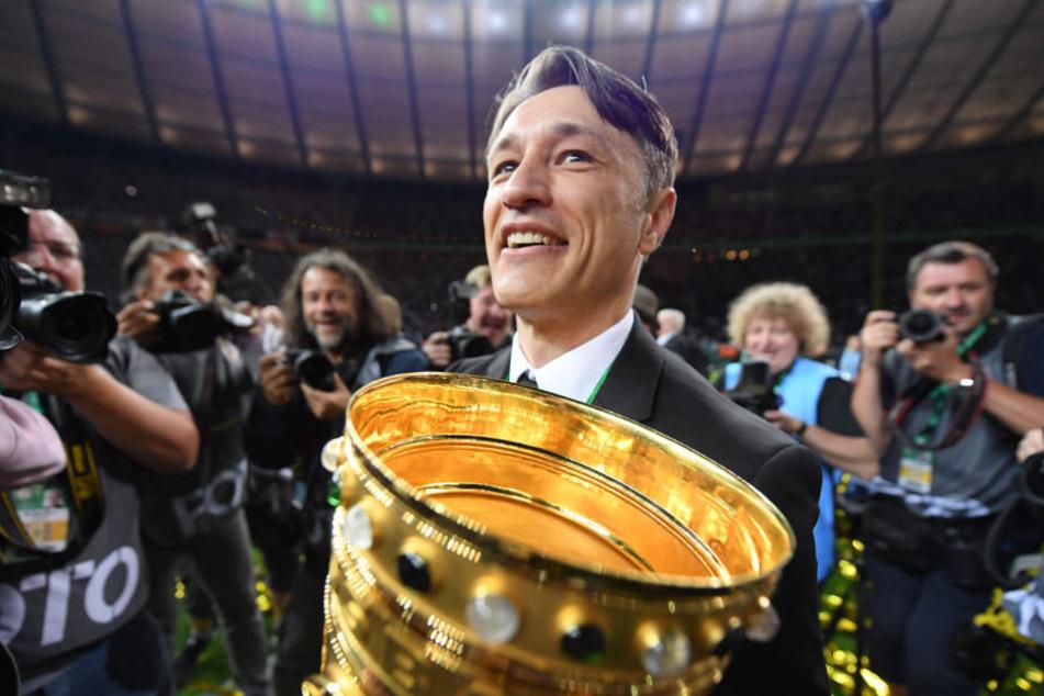 Mit der Eintracht gewann Niko Kovac das DFB-Pokalfinale 2018 gegen den FC Bayern.