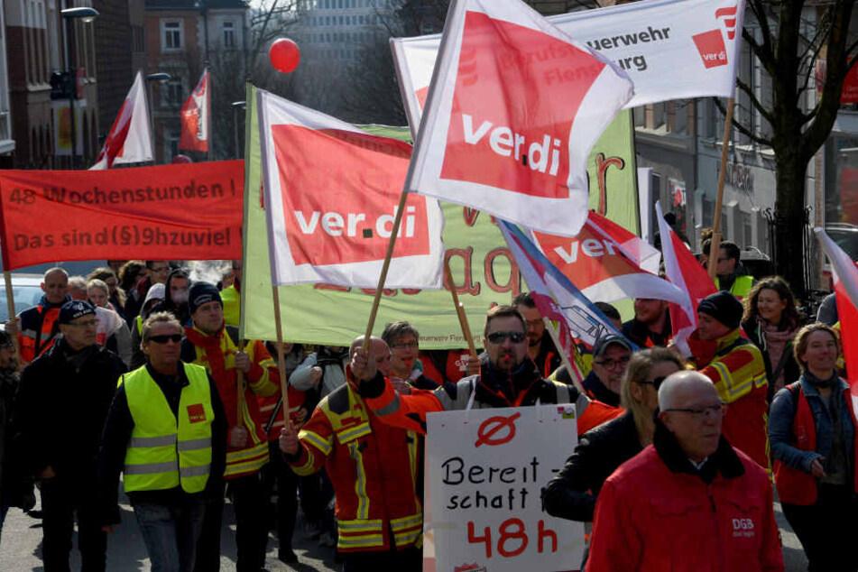Am Donnerstag wurde in Hamburg kräftig gestreikt.