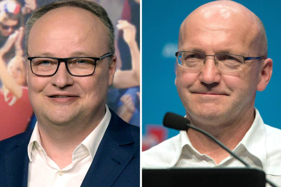 "(links) ""Heute-Show""-Moderator Oliver Welke und (rechts) AfD-Politiker Dieter Amann."