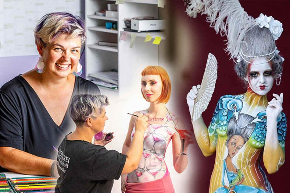 Dresden: Körpermalerin sucht Nackte für die Leinwand