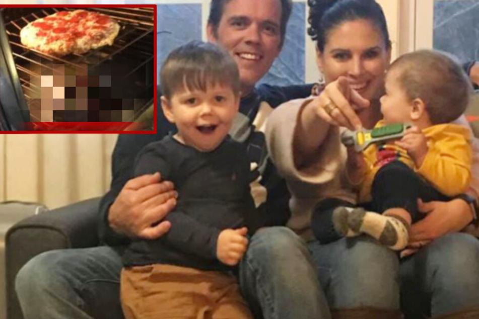 Schock vor dem Essen: Familie will Pizza backen, dann brutzelt eine Schlange im Ofen!